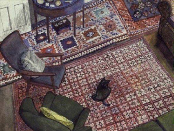 Cat on a Carpet, Edward Bawden