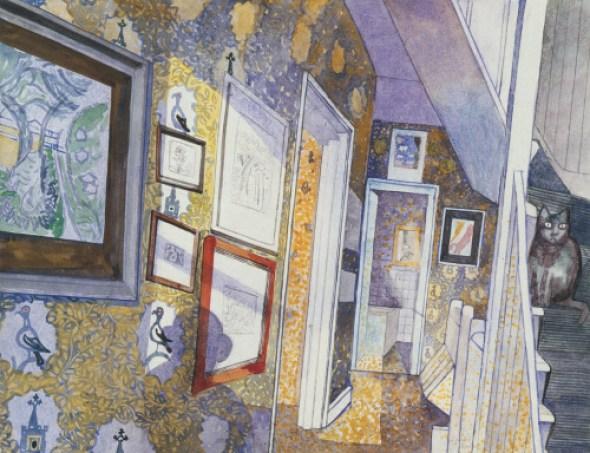 Cat Amongst the Pigeons, 1986, Edward Bawden