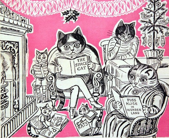 Cat Illustration cover of magazine, Edward Bawden