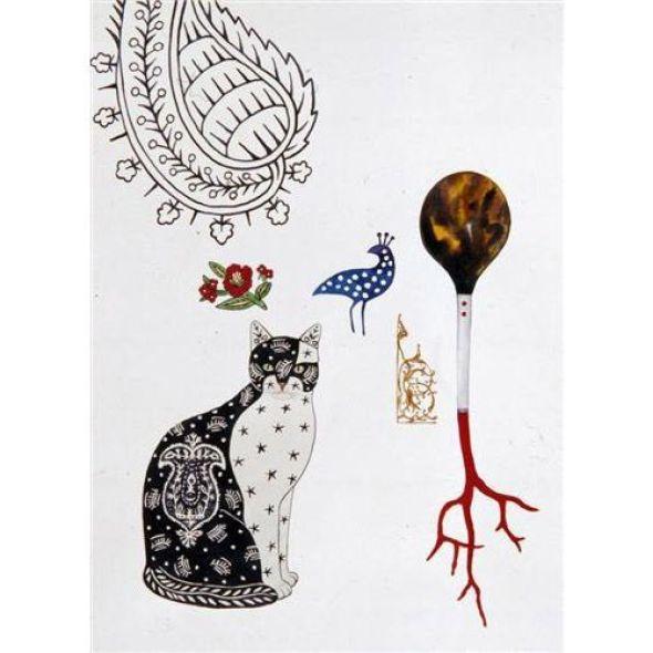 Feridun Oral, Cat and Carnation