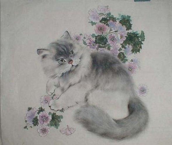 Gu Yingzhi, Chinese cat art