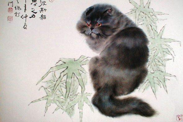 Gu Yingzhi, Black Cat, Chinese cats