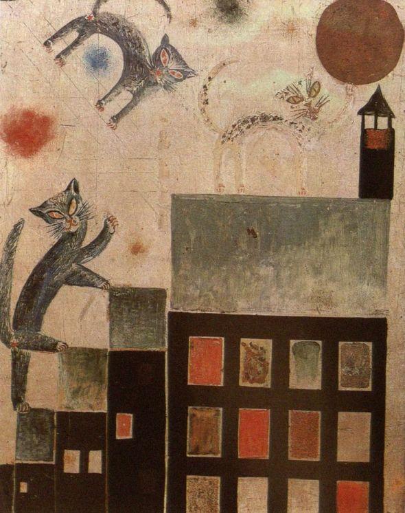 Otto Dix, Katzen (Theodor Däubler gewidmet) Cats. 1920