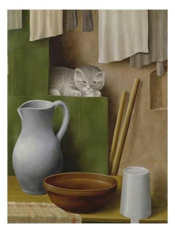 Georg Schrimpf, Still Life with Cat, 1923 (2)