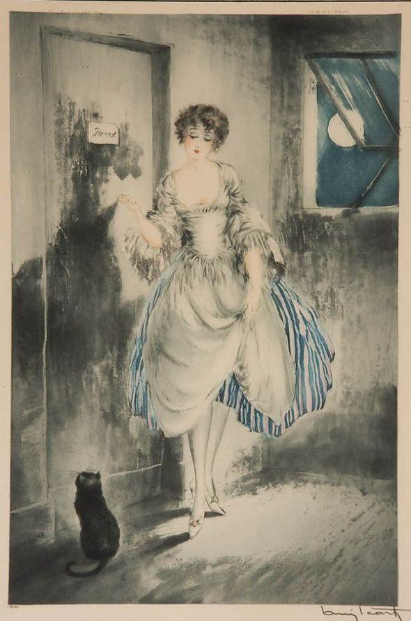 Pierrette, au Clair de la Lune, by Louis Icart, 1927