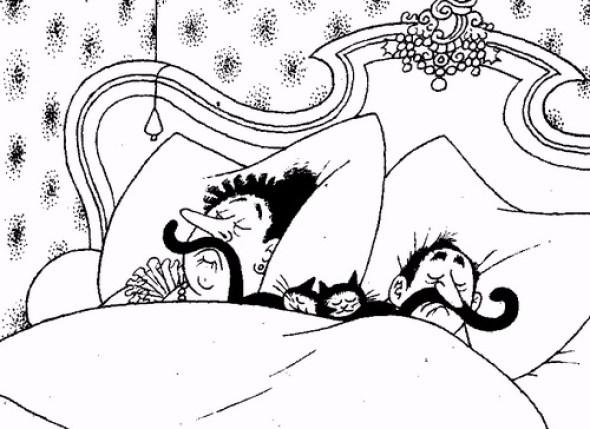 Albert Dubout, Sleeping Cats