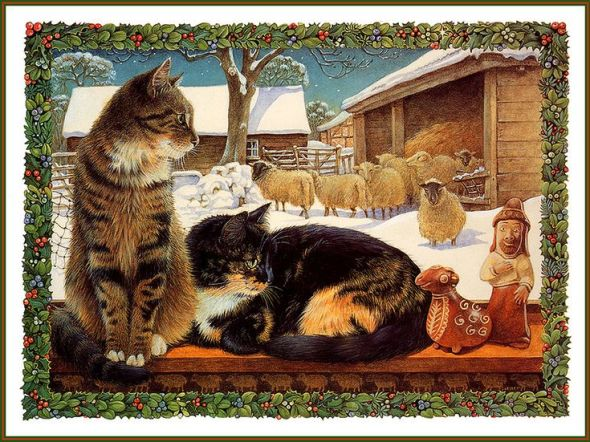 18-Lesley Anne Ivory, Xmas Cat