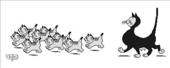 Albert Dubout, Cat Walk