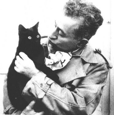 Albert Dubout (1905 - 1976) with his cat