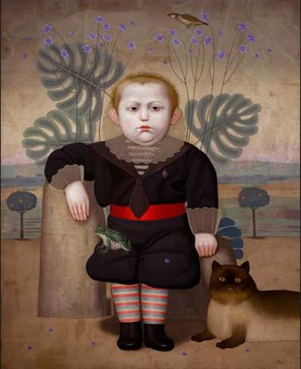 Boy, Bird, Frog and Cat, Juan Bejar