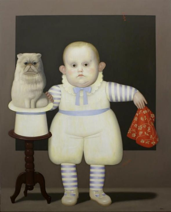 Boy with Cat in a Hat, Juan Bejar