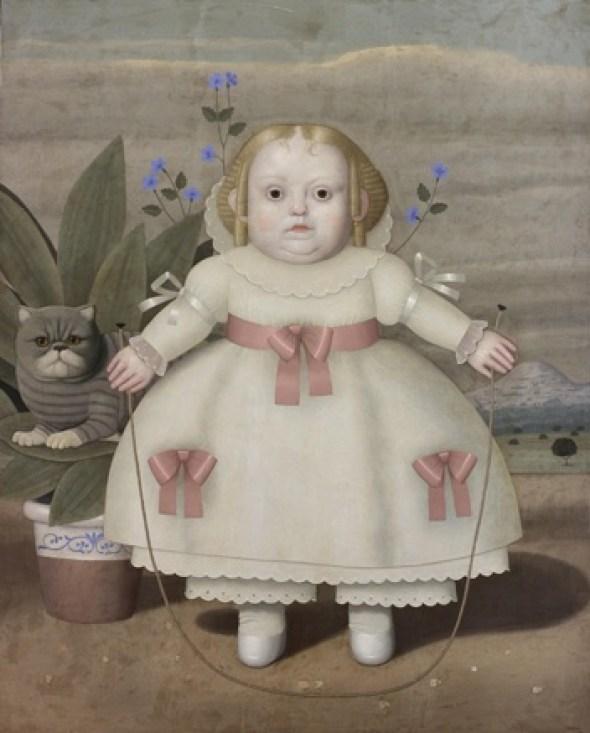 Girl with Grey Cat, Juan Bejar