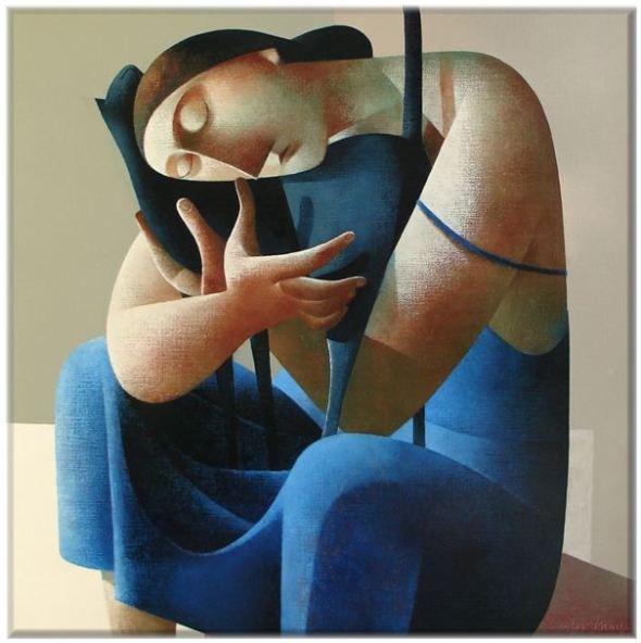 Woman and Cat, Peter Harskamp