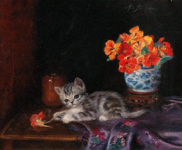 Meta Pluckebaum, A Playful Kitten