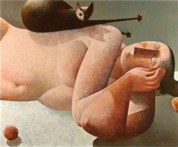 Cat on a Nude, Peter Harskamp