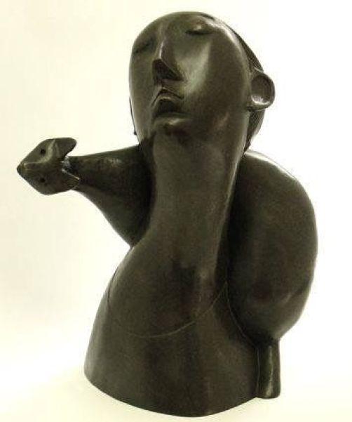 Cat and Woman Sculpture, Peter Harskamp