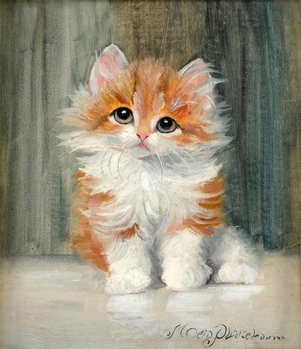 Orange and White Kitten, Meta Pluckebaum