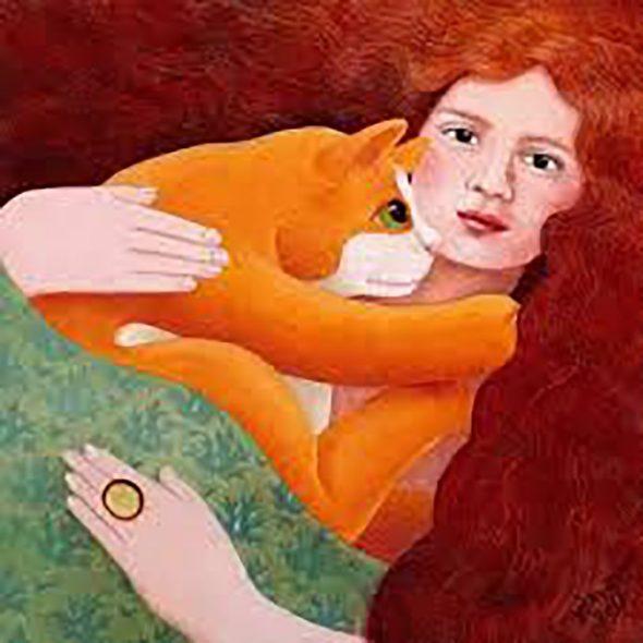 Beryl Cook, Red Cat, Red Woman