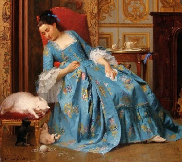 Joseph Caraud Joseph Caraud (French painter, 1821-1905) Ball of Yarn 1863