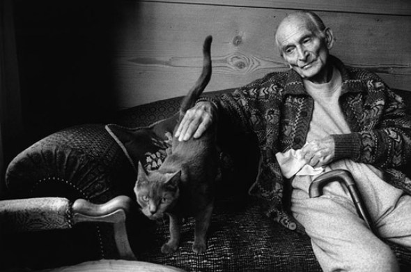 Balthus and Cat Martine Franck