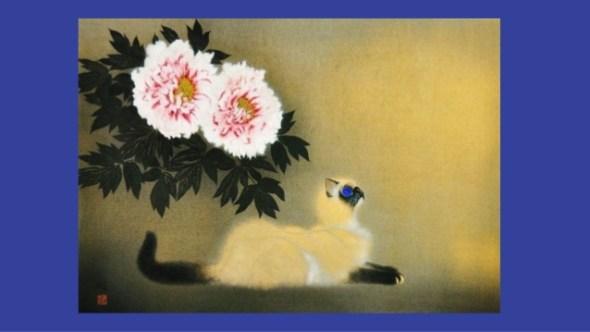 Cat and Flowers, Matazo Kayama 2