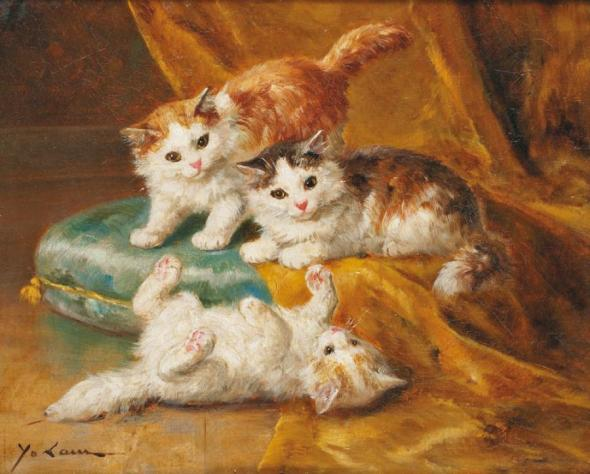 Three Kittens, Yo Laur (Marie Yvonne Laur)