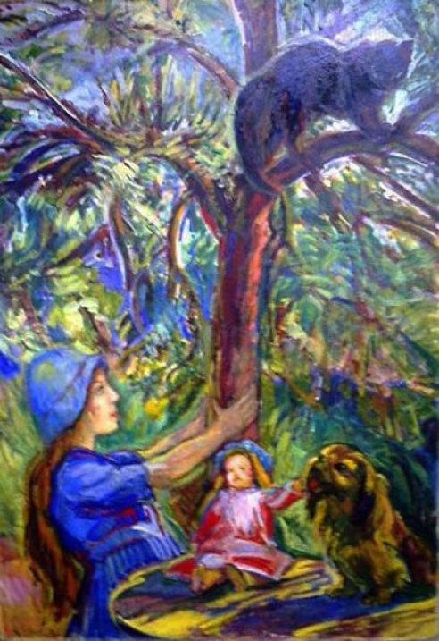 Nicholas Tarkhoff, Black Cat in a Tree