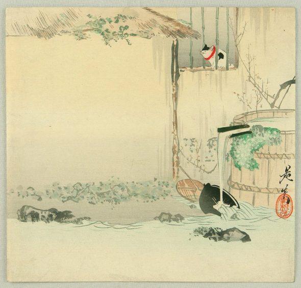Shibata Zeshin Cat on a Windowsill