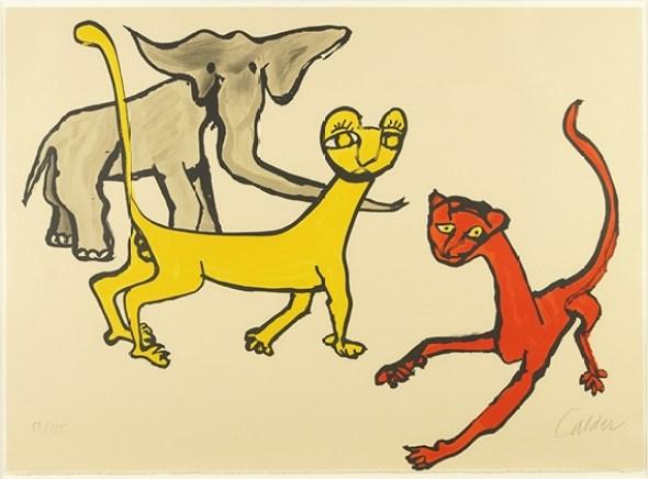 Alexander Calder, Cats and an Elephant