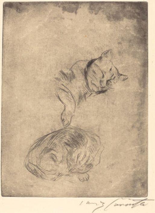 Lovis Corinth, Cat Sketch 1