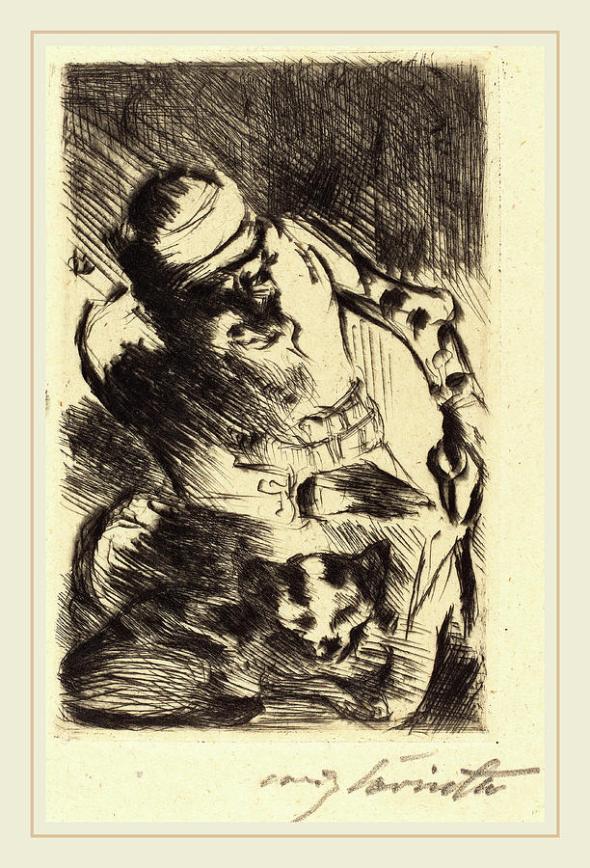 Lovis Corinth, The Prophet's Cat, 1919