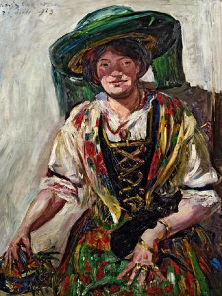 Lovis Corinth, Tyrolian Woman with Cat