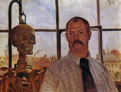 Self-portrait with Skeleton, 1896, oil on canvas, Städtische Galerie im Lenbachhaus