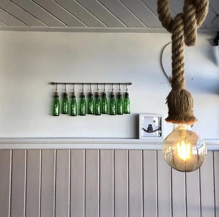 Lightbulb and ten green bottles