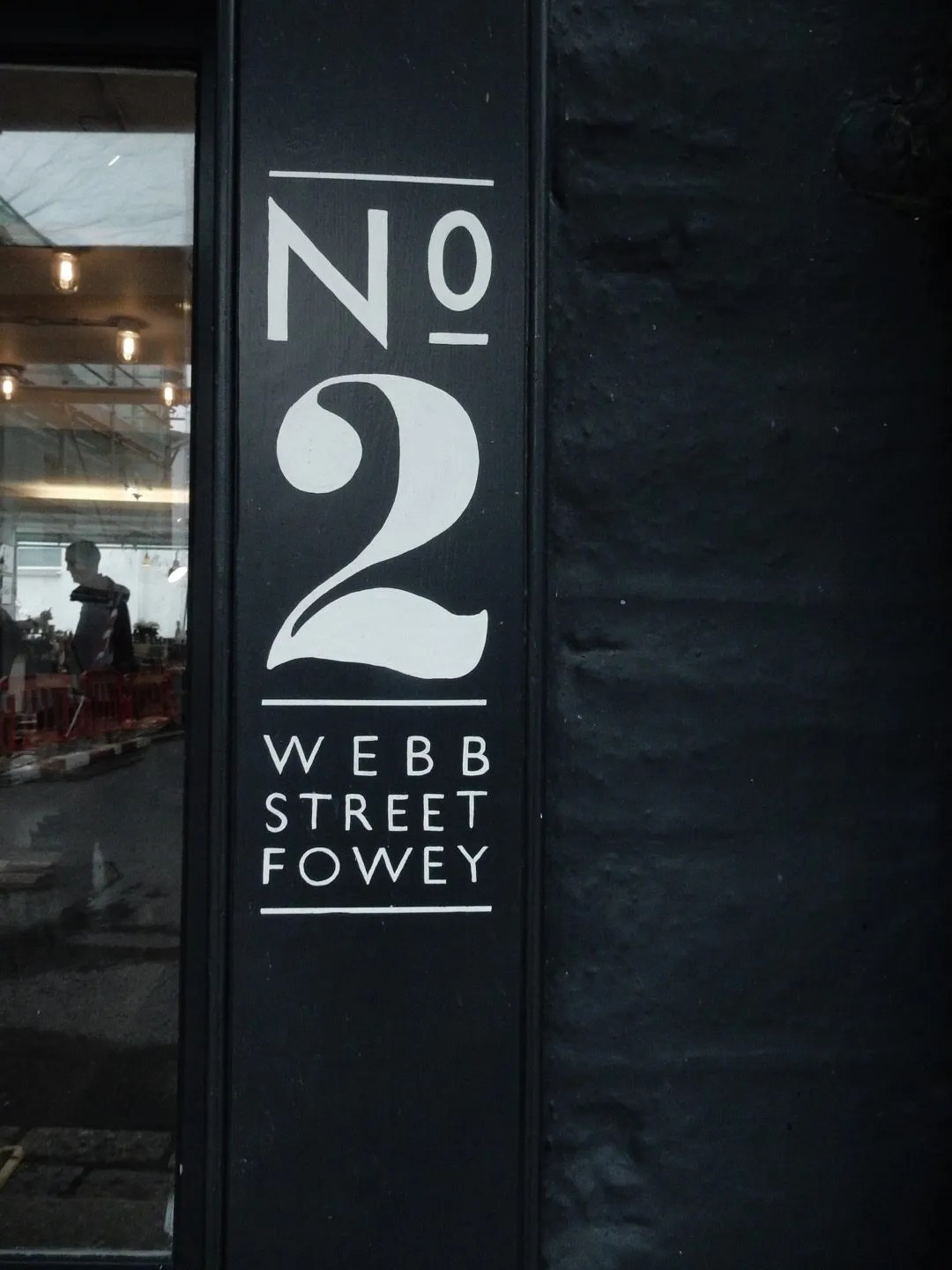 No 2 Webb Street Company Fowey sign