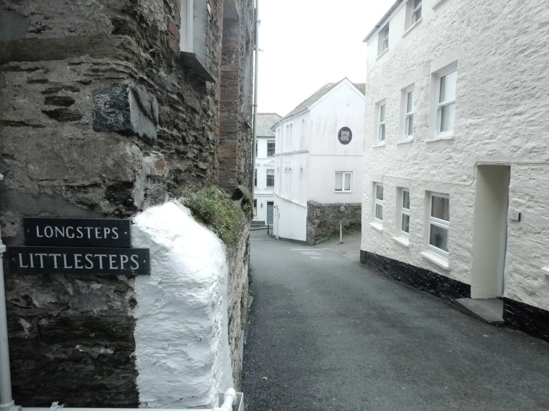Steep hill with houses on each side