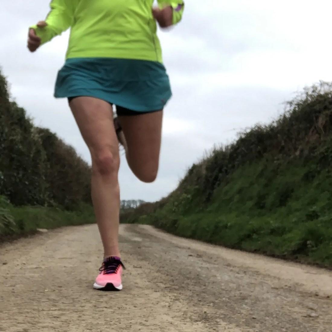 Lady running legs