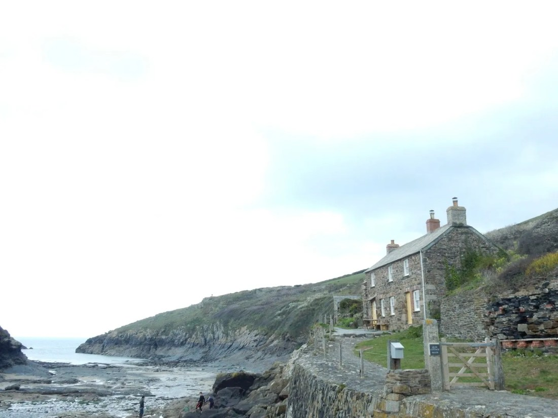 House on cliffs overlooking Port Quin