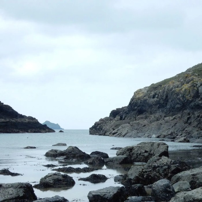 Sea and rocks and cliffs