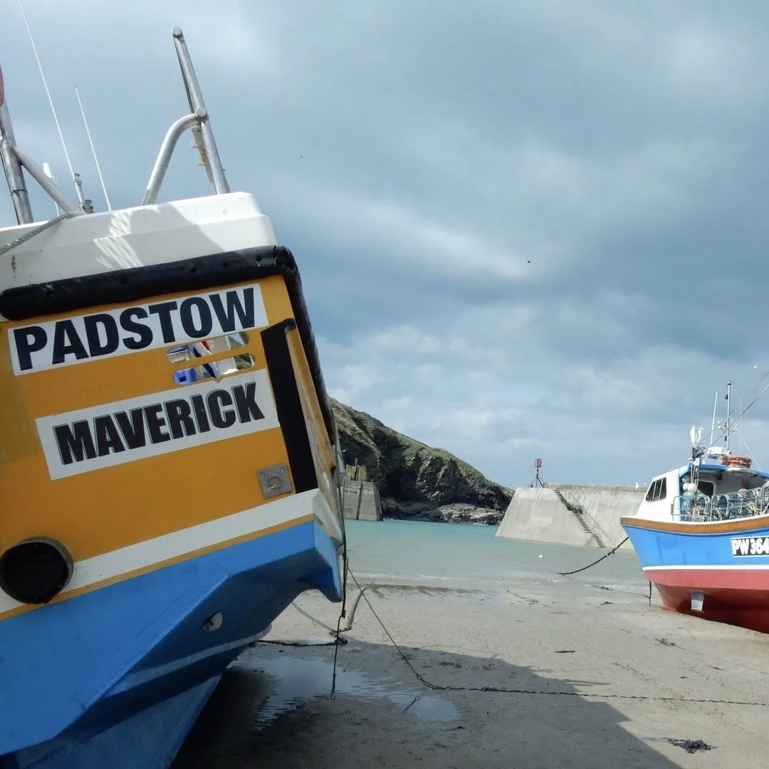 Fishing boats in the harbour at Port Issac