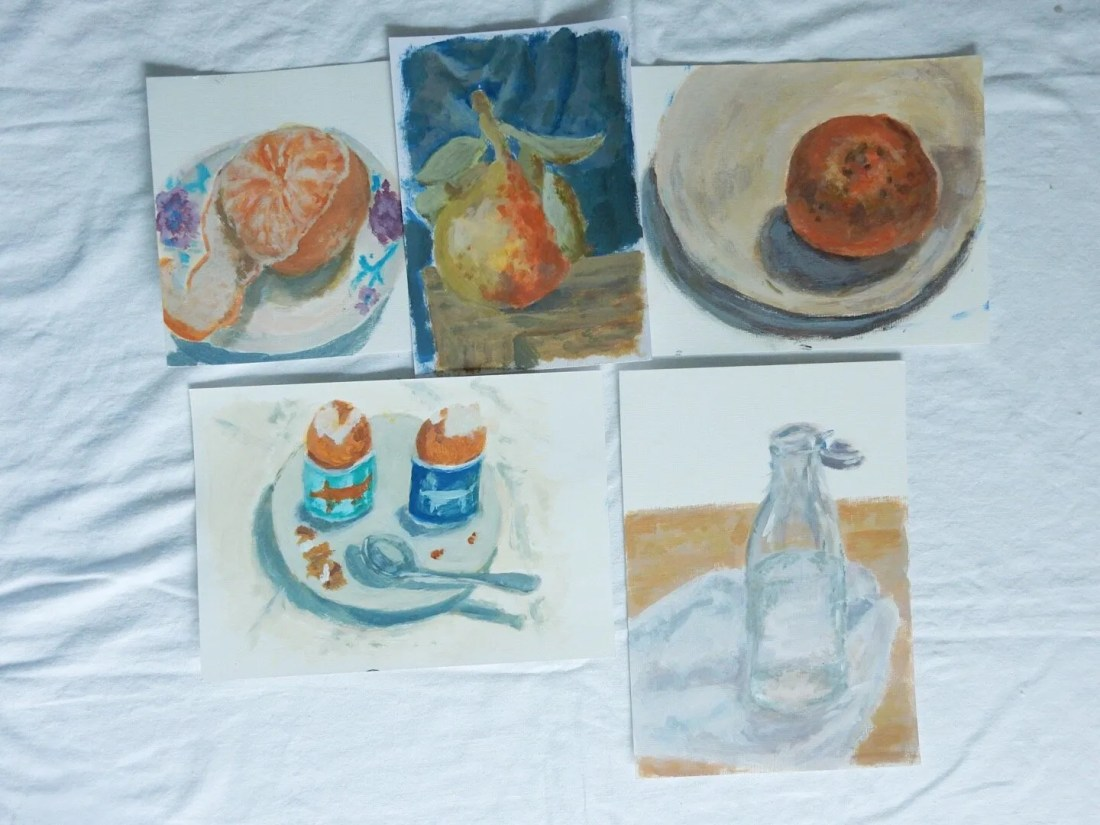 Acrylic paintings amateur daily paint