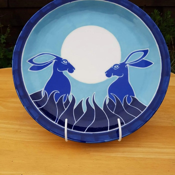 Blue rabbit plate Penn Boylan
