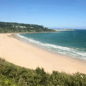 View of the beach from the St Ives Bay Line