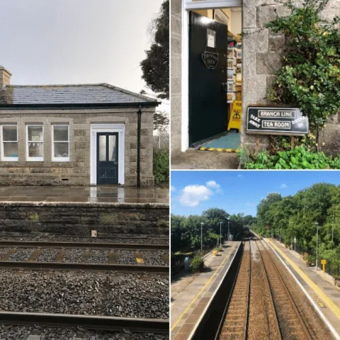 Scenes from St Erth Train Station Tea room, train track