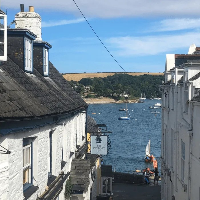 Victory Inn St Mawes and the view of the sea