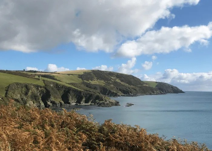 The sea and south west coast path in Cornwall