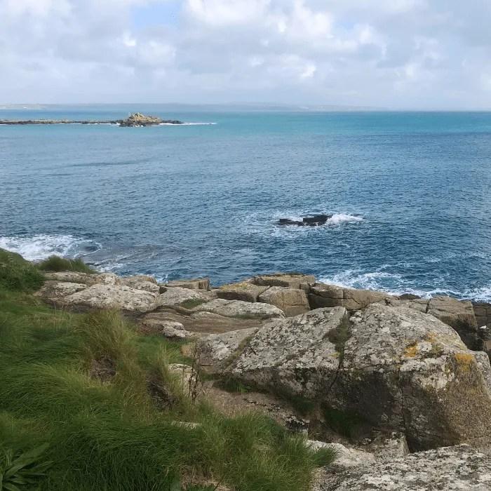 Merlyn Rock in Cornwall