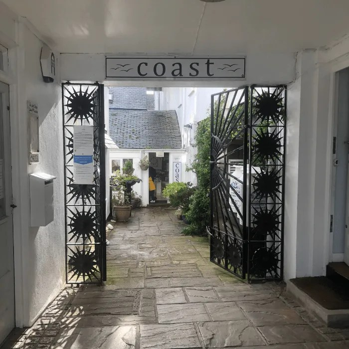 The walkway to Coast Shop in Mousehole