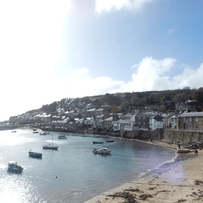 Mousehole village in sunshine