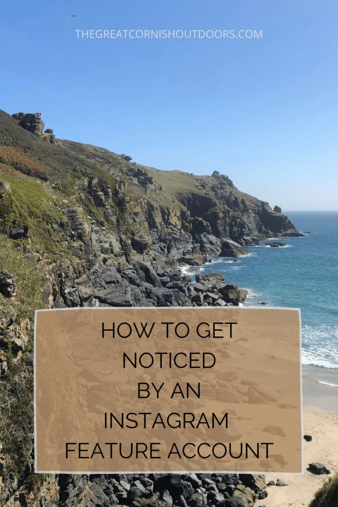 pinterest pin for how to get noticed by an instagram feature account